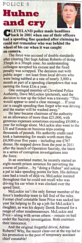 "My Private Eye investigation into corruption allegations at Cleveland Police. As featured in ""In the Back""."